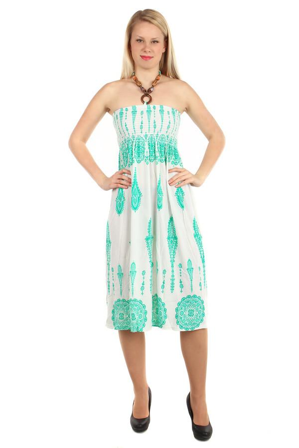 924fd3e8e84d Vzorované letní šaty za krk