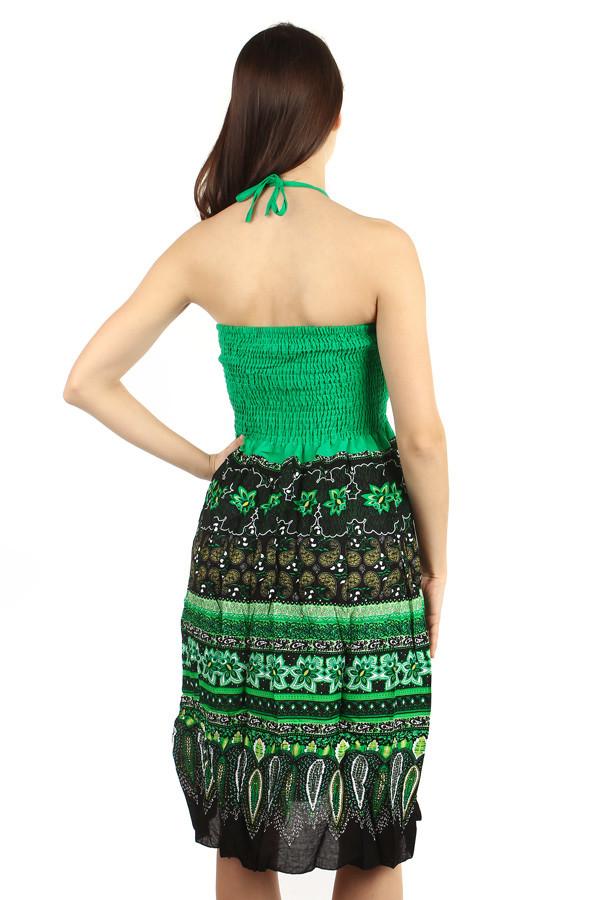 35e77735af1 Letní midi šaty se vzorem s odhalenými rameny