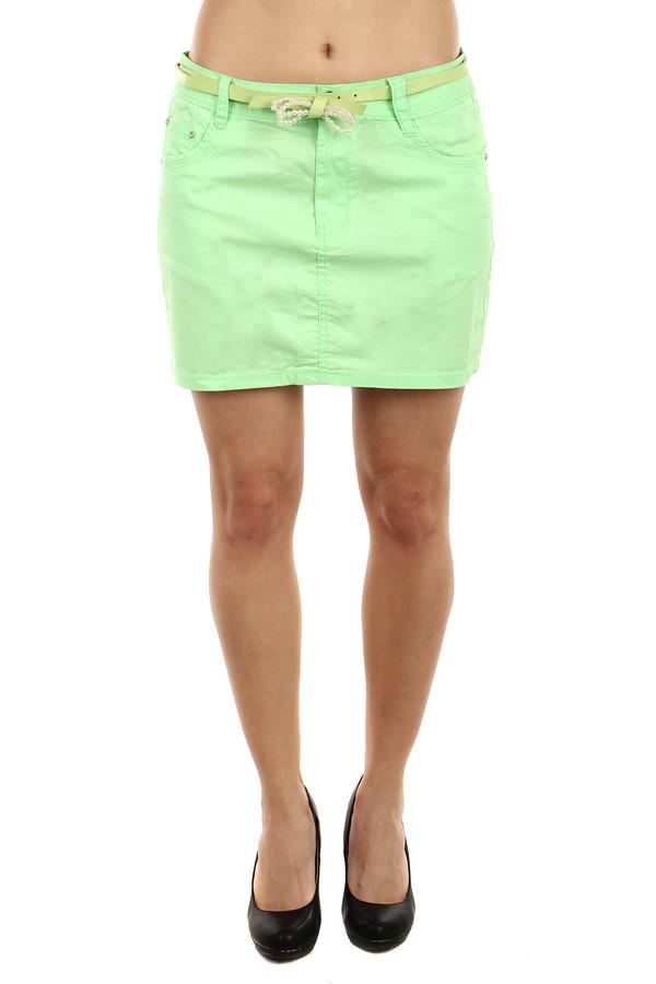 1ad8997506fe Dámská zelená krátká letní sukně