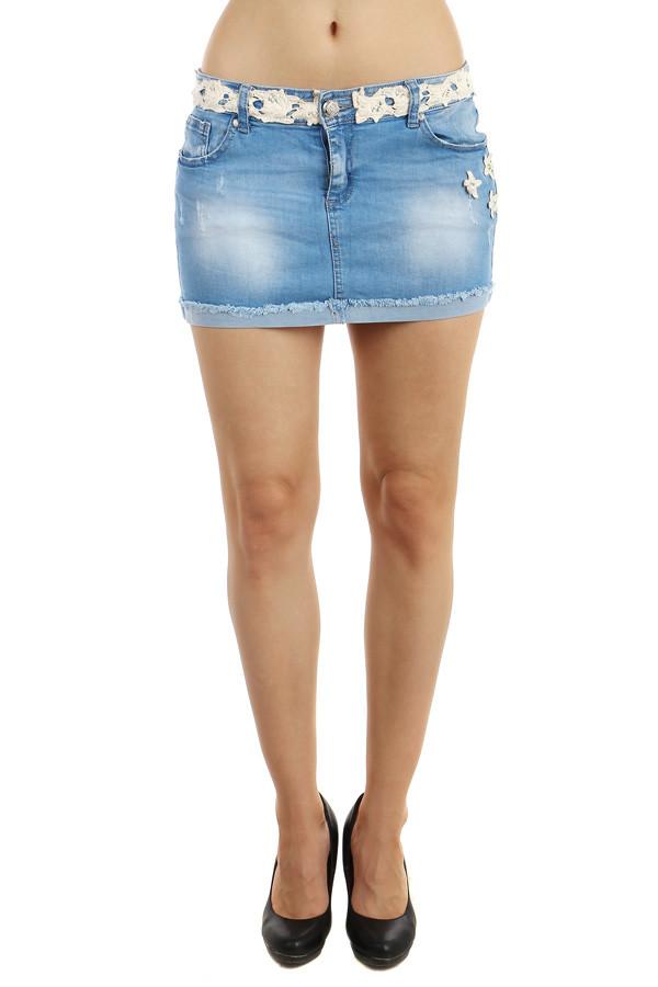 58460e076782 Dámská letní riflová krátká sukně