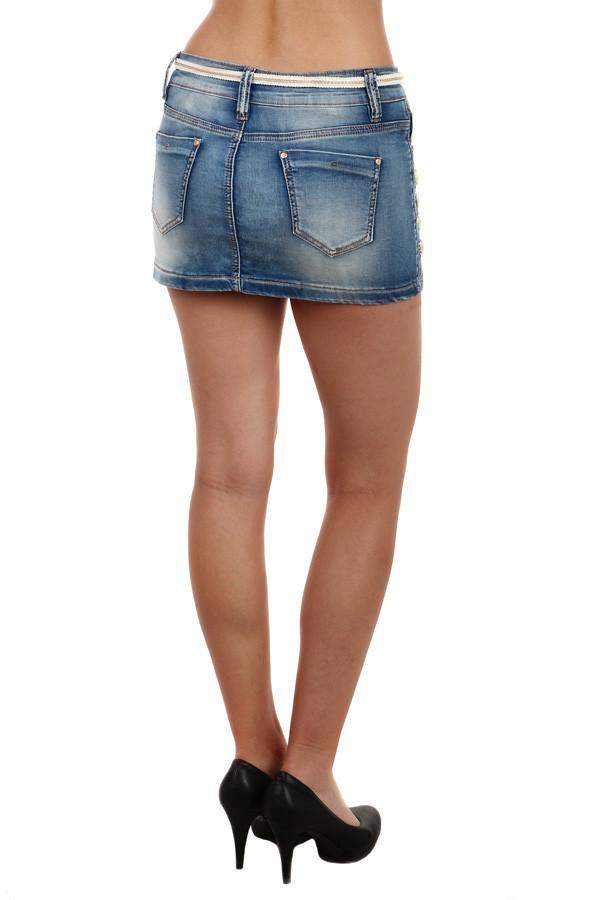 43027fa5c32 Dámská riflová sexy mini sukně