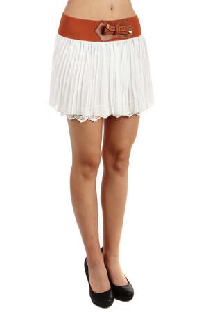 20b763dd12c7 Levné krátké bílé sukně pro plnoštíhlé
