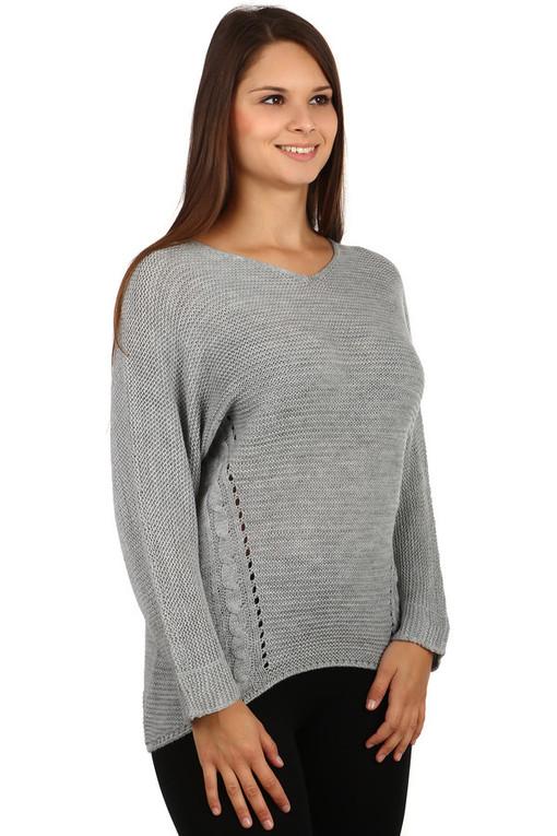 Dámský oversize svetr se vzorem  51b0cdcadf