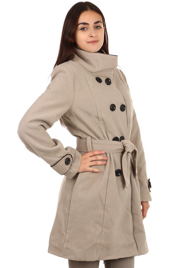 Dámský zimní kabát s knoflíky i pro plnoštíhlé  afcedc35b0