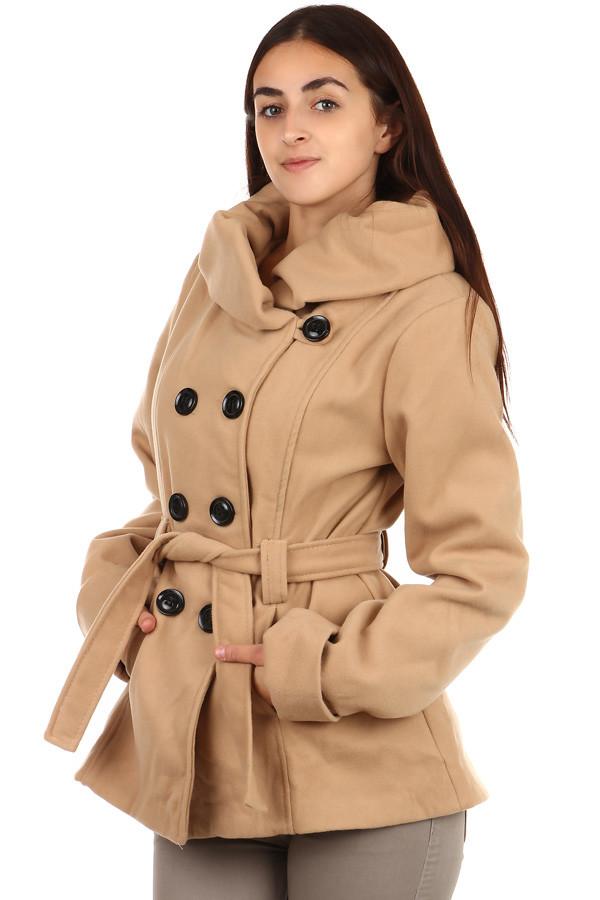 b2533245fa Dámský béžový kabát