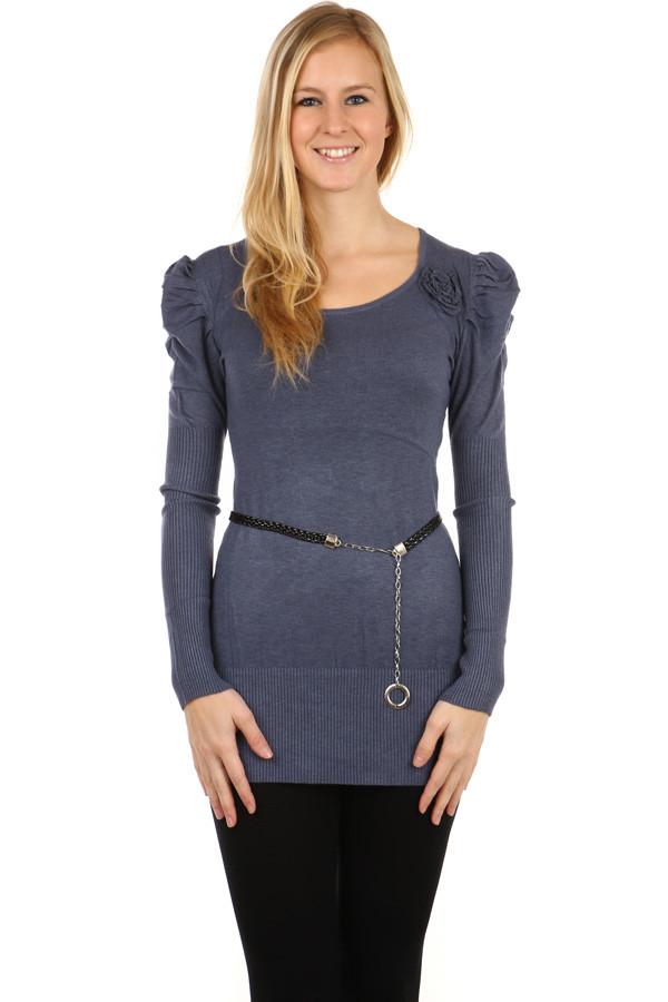 Dámský dlouhý svetr s dlouhým rukávem  35cda65845